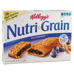 Nutri-Grain Cereal Bars, Blueberry, Indv Wrapped 1.3oz Bar, 48/Carton