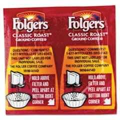 Coffee, Classic Roast Regular, 9/10oz Vacket Pack, 42/Carton