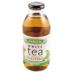 Ready-To-Drink Unsweetened Hint 'O Mint White Tea, 16oz Bottle, 12/Carton