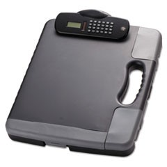 Portable Storage Clipboard Case w/Calculator, 11 3/4 x 14 1/2, Charcoal