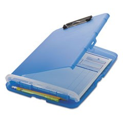 "Low Profile Storage Clipboard, 1/2"" Capacity, Holds 8 1/2 x 11, Translucent Blue"