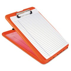 "SlimMate Storage Clipboard, 1/2"" Clip Cap, 8 1/2 x 11 Sheets, Hi-Vis Orange"