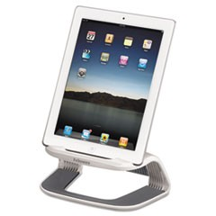 Tablet Riser, 8 3/8 x 5 3/8 x 4 5/8, White/Gray