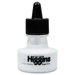 Waterproof Pigmented Drawing Ink, White, 1oz Bottle