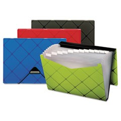 Poly Expanding File, 13-Pockets, 1/3 Tab, Letter, Assorted