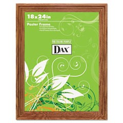 Plastic Poster Frame, Traditional Clear Plastic Window, 18 x 24, Medium Oak