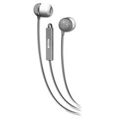 In-Ear Buds with Built-in Microphone, Silver