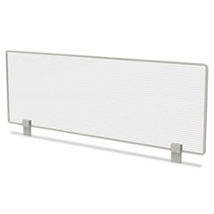 Trento Line Dividing Panel, Polycarbonate, 47-1/8 x 1 3/4 x 15-1/2, Translucent