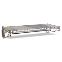 Steel Wire Wall Shelf Rack, 48w x 18d x 7-1/2h, Silver