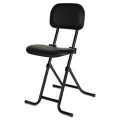 Alera IL Series Height-Adjustable Folding Stool, Black