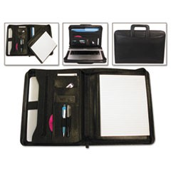 Tablet Organizer with Removable Pad Holder, 14 1/4 x 2 1/2 x 11 1/4, Black
