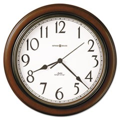 "Talon Auto Daylight-Savings Wall Clock, 15 1/4"", Cherry"