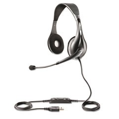 UC Voice 150 Binaural Over-the-Head Corded Headset, Microsoft Certified