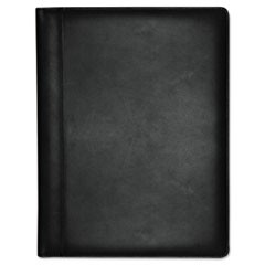 Executive Leather Padfolio, 9-1/2 x 12-1/2, Black