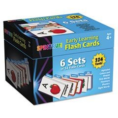 Flash Cards Boxed Set, Early Learning, 4 3/5 x 4 1/4, Ages 4 and Up, 324 Card ST