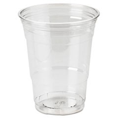 Clear Plastic PETE Cups, Cold, 16oz, WiseSize, 25/Pack, 20 Packs/Carton