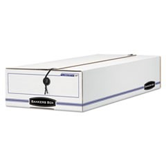 LIBERTY Storage Box, Check/Voucher, 9 x 23 1/4 x 5 3/4, White/Blue, 12/Carton