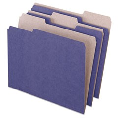 Earthwise Recycled Colored File Folders, 1/3 Top Tab, Letter, Violet, 100/Box