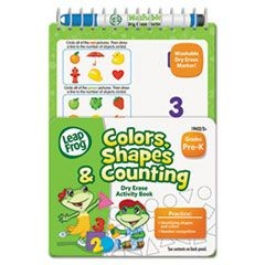 LeapFrog Mini Dry Erase Book, Colors, Shapes, Counting, Grades K-1, 8 Pages