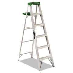 #428 Six-Foot Folding Aluminum Step Ladder, Green