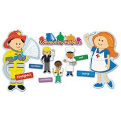 Community Helpers Bulletin Board Set, 20 Different Characters, 41 Pieces