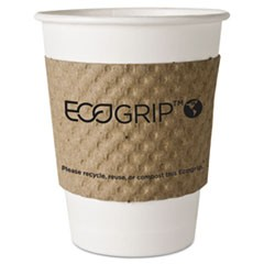 EcoGrip Hot Cup Sleeves - Renewable & Compostable, 1300/CT