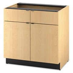 Hospitality Double Base Cabinet, Two Doors/Drawers, 36 x 24 x 36, Natural Maple
