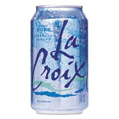 Sparkling Water, Pure, 12oz Can, 24/Carton
