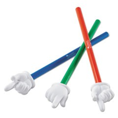 "Hand Pointers Set, 15"", Assorted Colors, 3/Set"