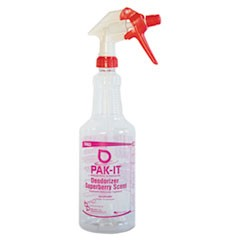 Empty Color-Coded Trigger-Spray Bottle, 32 oz, for Deodorizer - Superberry Scent