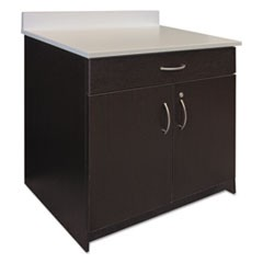 Hospitality Base Cabinet, Two Doors/Drawer, 36w x 24 3/4d x 40h, Espresso/White