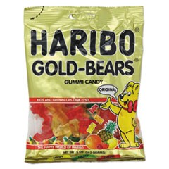 Gummi Candy, Gummi Bears, Original Assortment, 5oz Bag, 12/Carton