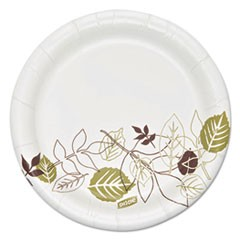 "Pathways Soak Proof Shield Heavyweight Paper Plates, 5 7/8"" dia, 125/Pack"