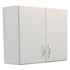 Hospitality Wall Cabinet, Two Doors, 36w x 14 3/16d x 29 3/4h, Gray
