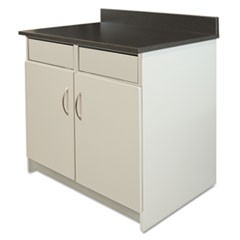 Hosp Base Cabinet, 2 Door/2 Flipper Doors, 36 x 24 3/4 x 40, Gray/Granite Nebula