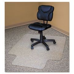 Recycled Chair Mats For Carpets, 48 x 36, Slightly Tinted