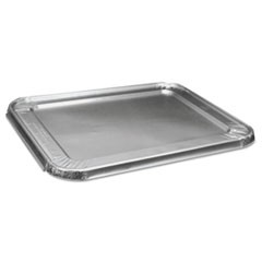 Half Size Steam Table Pan Lid For Deep Pans, Aluminum, 100/Case