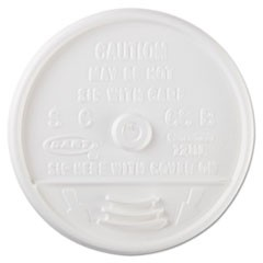 Sip-Through Lids For 10, 12, 14 oz Foam Cups, Plastic, White, 1000/Carton