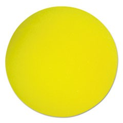 "Uncoated Regular-Density Foam Balls, 4"" Diameter, Yellow"