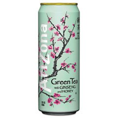 Green Tea with Ginseng & Honey, 23 oz Can, 24/Case