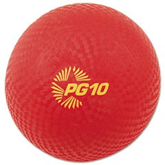 "Playground Ball, 10"" Diameter, Red"