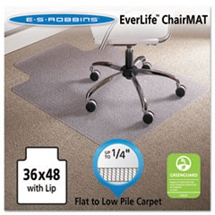 36 x 48 Lip Chair Mat, Task Series AnchorBar for Carpet up to 1/4""
