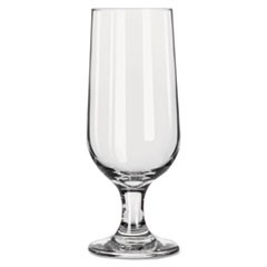 "Embassy Footed Drink Glasses, Beer Glass, 12oz, 7 1/8""H, Clear, 24/Carton"