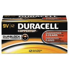 CopperTop Alkaline Batteries with Duralock Power Preserve Technology, 9V, 12/Pk