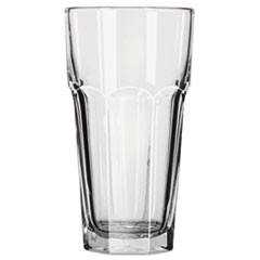 Gibraltar Glass Tumblers, 22 oz, Clear, Iced Tea Glass, 24/Carton