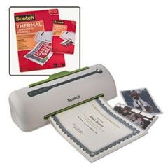 "Pro 9"" Laminator and Value Pack, 20 Each 8 1/2 x 11 and 4 x 6 Laminating Pouches"