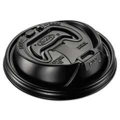 Optima Reclosable Lid, Fits 12-24 oz Foam Cups, Black, 1000/Carton
