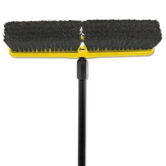 "Tampico-Bristle Medium Floor Sweep, 18""Brush,3""Bristles, Black"