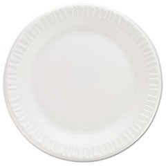 "Non-Laminated Foam Dinnerware, Plates, 7""Diameter, White,125/Pack,8/Carton"