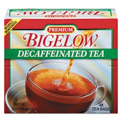 Single Flavor Tea, Decaffeinated Black, 48 Bags/Box